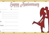 Anniversary Gift Certificate 4