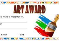 Art Award Certificate Template 2