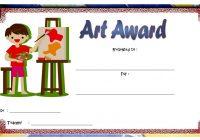 Art Award Certificate Template 3