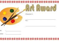 Art Award Certificate Template 4