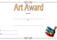 Art Award Certificate Template 5