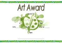 Art Award Certificate Template 6