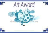 Art Award Certificate Template 7