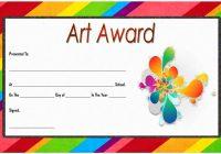 Art Award Certificate Template 8
