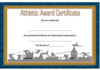 Athletic Award Certificate 1