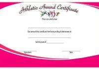 Athletic Award Certificate 2
