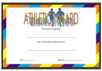 Athletic Award Certificate 3