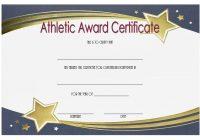 Athletic Award Certificate
