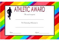 Athletic Award Certificate 4