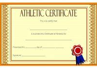 Athletic Award Certificate 7