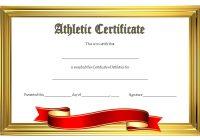 Athletic Award Certificate 8