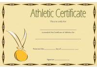 Athletic Award Certificate 9
