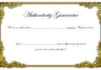 Authenticity Certificate Template 3