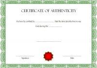 Authenticity Certificate Template