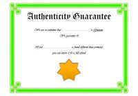 Authenticity Certificate Template 4