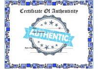 Authenticity Certificate Template 5