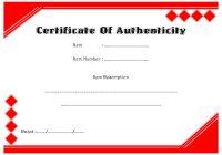 Authenticity Certificate Template 6