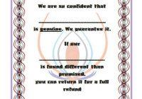 Authenticity Certificate Template 7