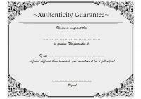 Authenticity Certificate Template 8