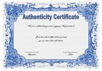 Authenticity Certificate Template 9