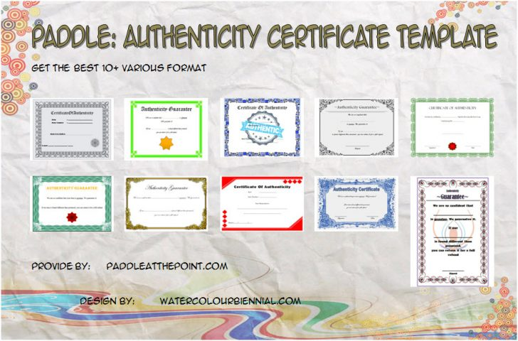 Permalink to Authenticity Certificate Templates Free: 10+ Superior Ideas