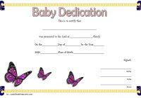 Baby Dedication Certificate Template 1