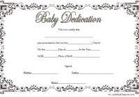 Baby Dedication Certificate Template 2