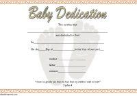 Baby Dedication Certificate Template 4