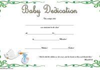 Baby Dedication Certificate Template 5