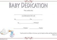 Baby Dedication Certificate Template 6