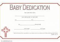 Baby Dedication Certificate Template 7