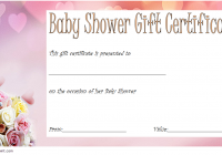 Baby Shower Gift Certificate Template 2
