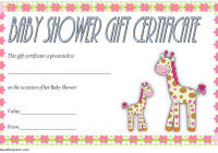 Baby Shower Gift Certificate Template 3