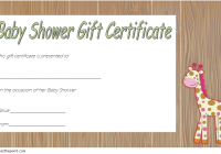 Baby Shower Gift Certificate Template 4