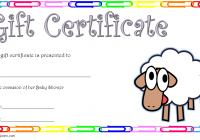 Baby Shower Gift Certificate Template 5