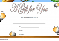Baby Shower Gift Certificate Template 7