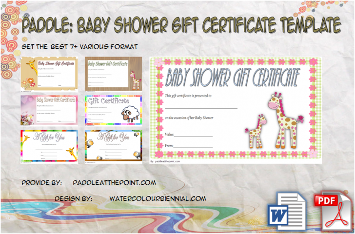 Permalink to Baby Shower Gift Certificate Template Free