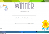 Baby Shower Winner Certificate Template 1