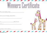 Baby Shower Winner Certificate Template 3