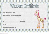 Baby Shower Winner Certificate Template 6