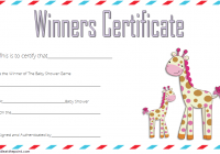 Baby Shower Winner Certificate Template 7
