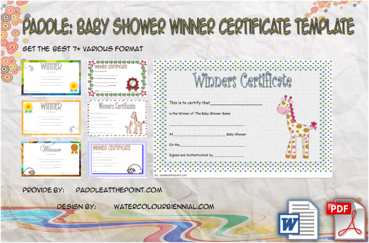 Permalink to Baby Shower Game Winner Certificate Templates