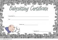 Babysitting Certificate Template 2