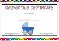 Babysitting Certificate Template 4