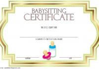 Babysitting Certificate Template 5