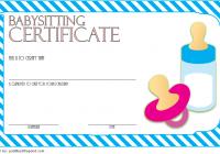 Babysitting Certificate Template 6