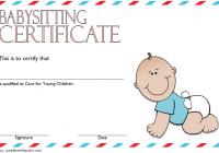 Babysitting Certificate Template 7