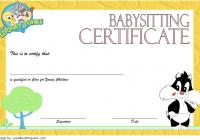 Babysitting Certificate Template 8