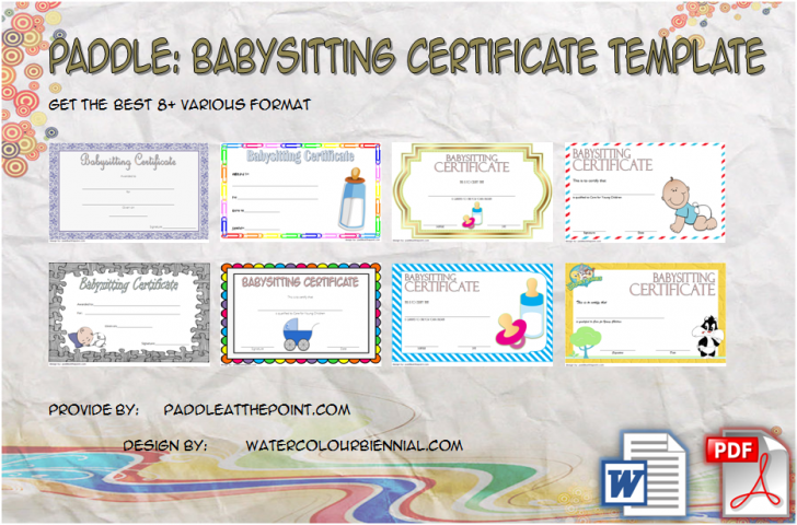 Permalink to Babysitting Certificate Template Free