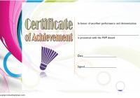 Badminton Achievement Certificate Template 2
